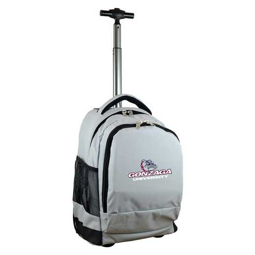 CLGZL780-GY: NCAA Gonzaga University Bulldogs Wheeled Premium Backpack